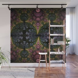Fractal Abstract with orbs and tribal patterns Wall Mural