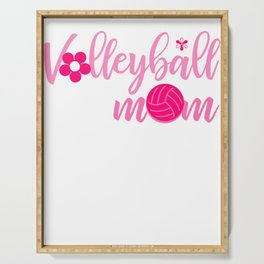 Volleyball Mom Athletic Mother Cool Mum Best Mother Design Serving Tray
