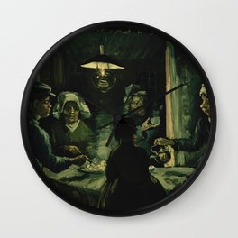 Vincent Van Gogh The Potato Eaters Wall Clock