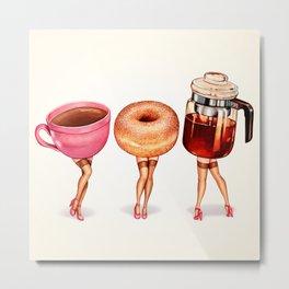 Coffee Pin-Ups Metal Print