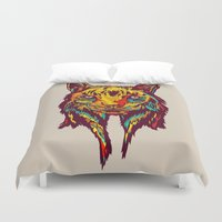 rare Duvet Covers featuring BE RARE* - Iberic Lince by Vasco Vicente