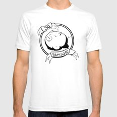 So Hamsome - Black White SMALL Mens Fitted Tee