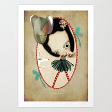 Once upon a time a doll Art Print