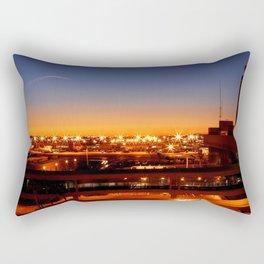 Airport Sunset Time Lapse Rectangular Pillow