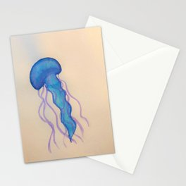 watercolor jellyfish Stationery Cards