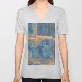 Rusted Metal Plates Abstract Unisex V-Neck