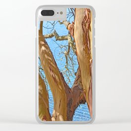 MADRONA TREE BY THE SEA Clear iPhone Case