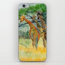 Giraffes in the Savannah iPhone Skin