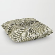 Tropical Leaves – Taupe Palette Floor Pillow