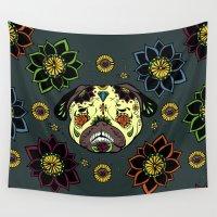 calavera Wall Tapestries featuring Calavera Paxicana by Huebucket