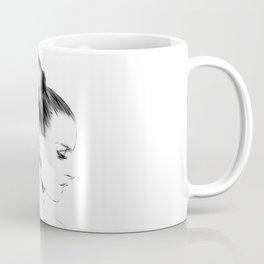Woman Portrait Fashion Minimal Drawing Coffee Mug