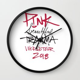 beautiful trauma P!NK World Tour Wall Clock