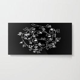 White ink, graphic art Metal Print