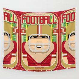American Football Red and Gold - Enzone Puntfumbler - Victor version Wall Tapestry