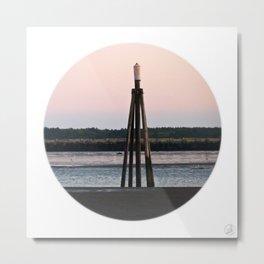 Dolphin Ocean Beach Sunset Metal Print
