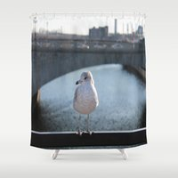 charlie brown Shower Curtains featuring Charlie by Chris Cooch