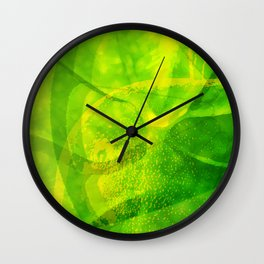 Green Apple Lemonade Wall Clock