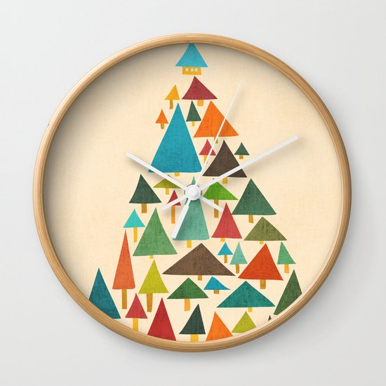 The house at the pine forest Wall Clock