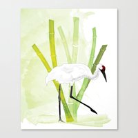 crane Canvas Prints featuring Crane by Xiao Twins