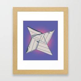 Paper Star Framed Art Print