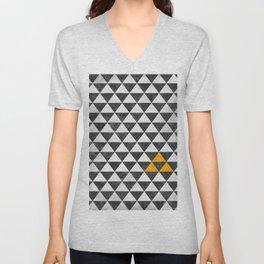 Triangle - Yellow III Unisex V-Neck