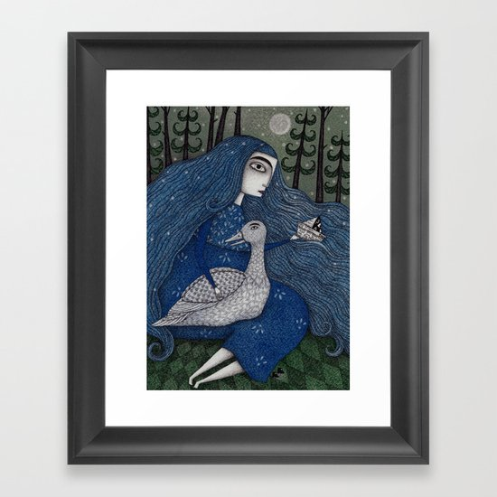 The White Duck Framed Art Print