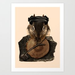 Squirrel DJ Art Print