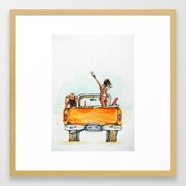 Dream Surf Truck Framed Art Print