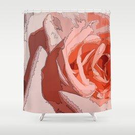 orange rr Shower Curtain