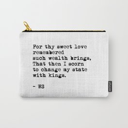 Sonnet 29 - Love Sonnet on white Carry-All Pouch