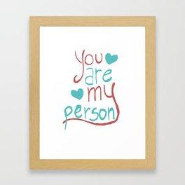 My Person Framed Art Print