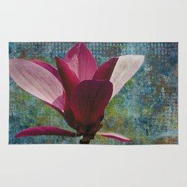 Magnolia on Blue Rug
