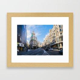 Gran Via Madrid Framed Art Print
