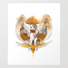 Potter Hedwig Owl Art Print