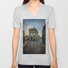 The Town Hall At Abingdon Unisex V-Neck
