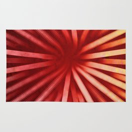 Intersecting-Red Rug