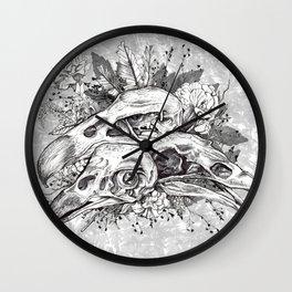 Skull Pile Wall Clock