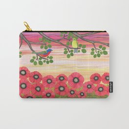Painted buntings, poppies, and snails Carry-All Pouch