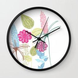 Quiet Garden - by Kara Peters Wall Clock