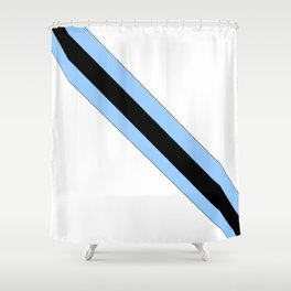 flag of bostwana 2 – Batswana,Motswana,botsuano,botsuanés,Gaborone. Shower Curtain