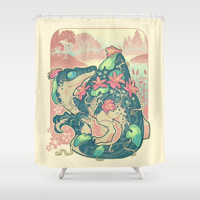 Aquatic Buddies Shower Curtain By Colordrilos