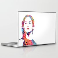 katniss Laptop & iPad Skins featuring Katniss by lauramaahs