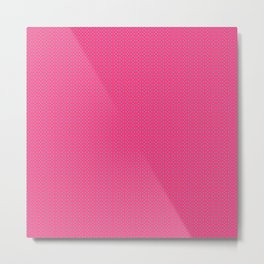 Pink and Blue Polka Dot Metal Print