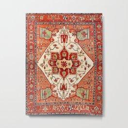 Serapi Azerbaijan Northwest Persian Rug Print Metal Print