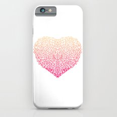 Pink Heart - Light White background iPhone 6s Slim Case