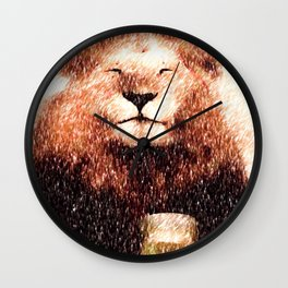Dancing Days (White Lettering on Black) Wall Clock