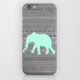 Mint Elephant  iPhone Case