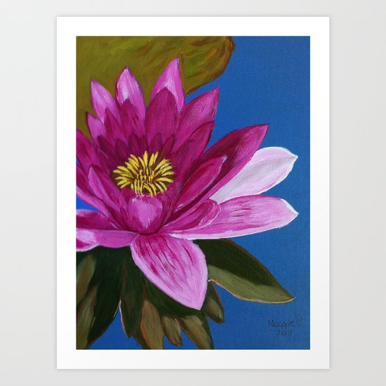 Queen of the pond Art Print