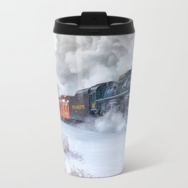 North Pole Express Train (Steam engine Pere Marquette 1225) Metal Travel Mug