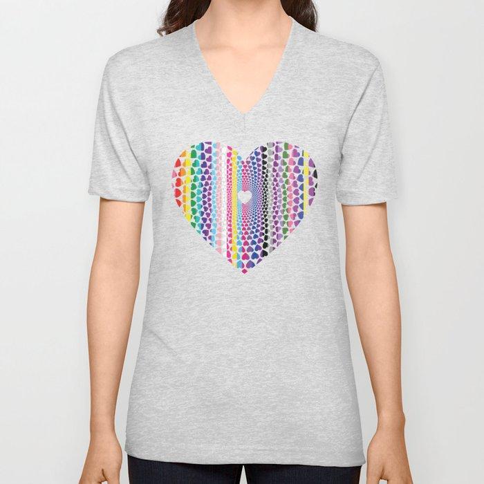 LGBTQ2 Love Unisex V-Neck